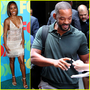 Will Smith Joins Wife Jada in New York City for Fox Upfronts!