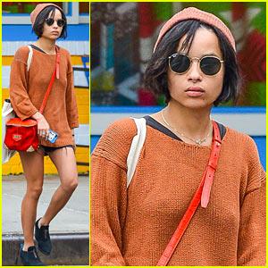 Zoe Kravitz Hangs in New York as 'Insurgent' Begins Filming in Atlanta!