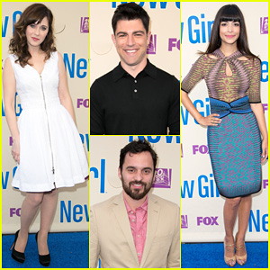 Zooey Deschanel Joins 'New Girl' Cast for Season Three Finale Screening!