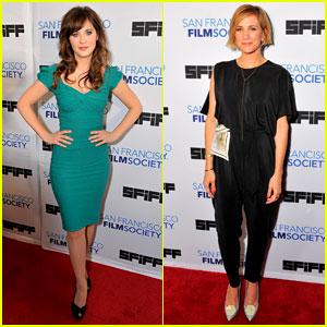 Zooey Deschanel & Kristen Wiig Hit the San Francisco Film Fest!