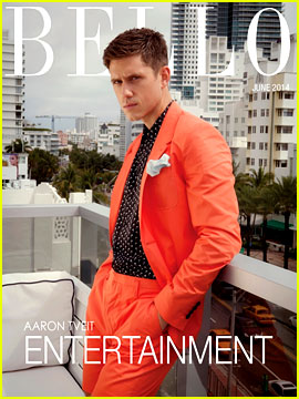 Aaron Tveit Models Bright Summer Outfits for 'Bello' June 2014!
