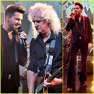 Adam Lambert Gets Ready For Queen Tour at iHeartRadio Theater!