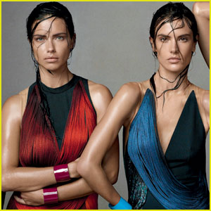 Adriana Lima & Alessandra Ambrosio Rock Sexy Wet Hair For 'Vogue' Feature!