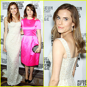 Allison Williams & Zosia Mamet Bring 'Girls' Presence to Museum Of The Moving Image!
