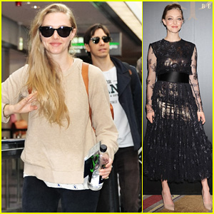 Amanda Seyfried Touches Down in Tokyo for Shiseido 'Cle de Peau Beaute' Press Conference!