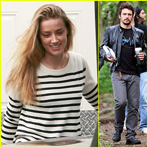 Amber Heard & James Franco Show A Range of Emotions on 'Adderall Diaries' Set!