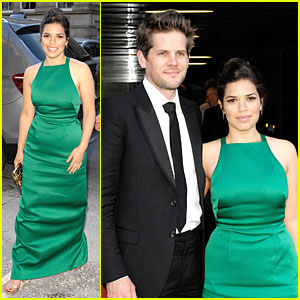 America Ferrera & Ryan Piers Williams Look Perfect Together at 'Hyena' Premiere!