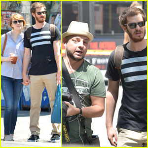 Andrew Garfield Confronts Paparazzi on Stroll with Emma Stone