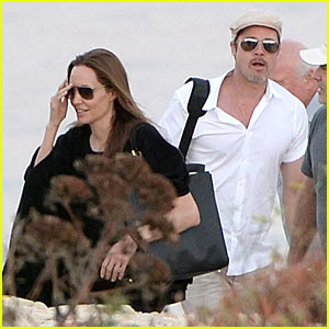 Angelina Jolie & Brad Pitt Scout Locations Together in Malta!