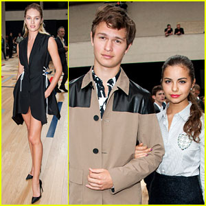Ansel Elgort & Candice Swanepoel Hit Up Dior Homme Show