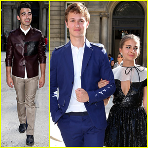 Ansel Elgort & Girlfriend Violetta Komyshan Couple Up at Paris Fashion Week!
