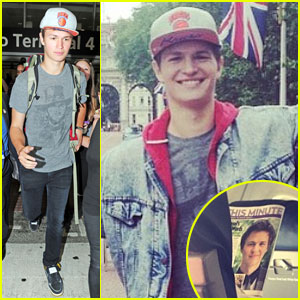 Ansel Elgort Catches Fellow Plane Passenger Reading an Article About Him - See the Pic!