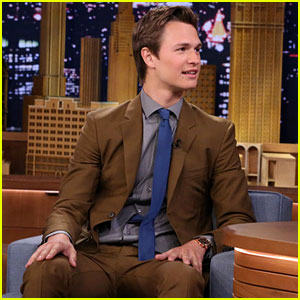 Ansel Elgort Taps Away on 'The Tonight Show' - Watch Now!
