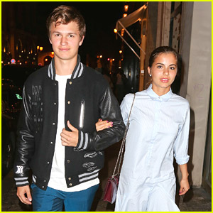 Ansel Elgort Steps Out with Girlfriend Violetta Komyshan Again!