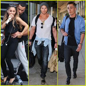 Ariana Grande Rehearses for MMVAs, Presenters Kellan Lutz & Colton Haynes Arrive in Toronto