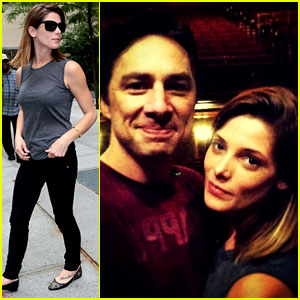 Ashley Greene Supports Her Buddy Zach Braff on Broadway!