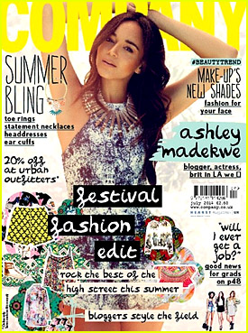 Ashley Madekwe Dishes On Her 'Pinch Me' Moment in Company Mag's July 2014 Issue