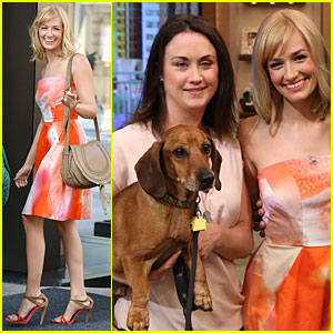 Beth Behrs Looks Pretty Happy to See Slimmed Down & Healthy Obie!