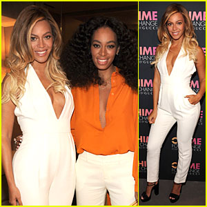 Beyonce & Solange Knowles Take the Plunge at Chime for Change Event!