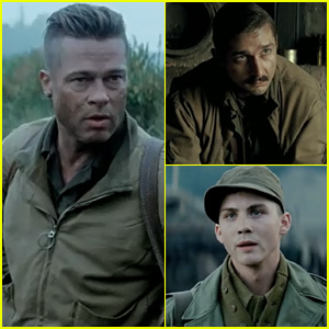 Brad Pitt Gets Intense with Shia LaBeouf & Logan Lerman in 'Fury' Trailer - Watch Now!