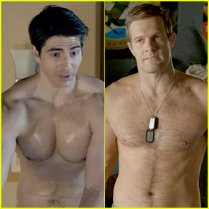 Brandon Routh & 'Enlisted' Guys Go Shirtless for Latest Episode!