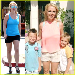 Britney Spears & Her Boys Are Ready for Summer!