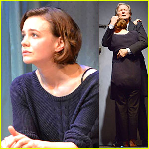 Carey Mulligan & Bill Nighy Share Embrace in 'Skylight' Opening!