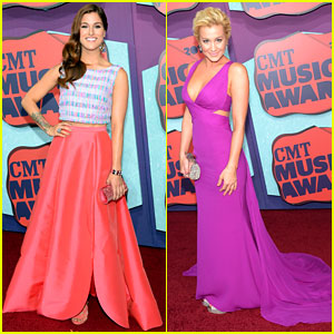 Cassadee Pope & Kellie Pickler Add Color to the CMT Music Awards 2014 Red Carpet!