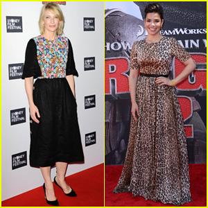 Cate Blanchett & America Ferrera Take 'How to Train Your Dragon 2' to Australia & Los Angeles!