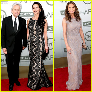 Catherine Zeta-Jones & Michael Douglas Step Out to Support Their Pal Jane Fonda!