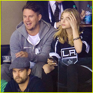 Channing Tatum, Joshua Jackson, & Chloe Moretz Watch the Kings Game Together!