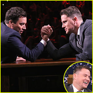 Channing Tatum Wins Hilarious Arm Wrestling Match on 'Tonight Show' - Watch Now!