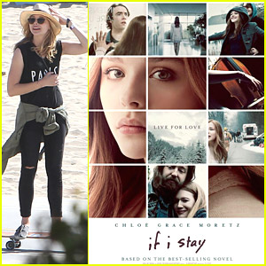 Chloe Moretz Debuts 'If I Stay' Poster After Stakeboarding in Santa Monica