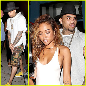 Chris Brown & Karrueche Tran Dance the Night Away at Hooray Henry's!
