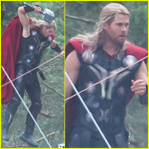 Chris Hemsworth Slams Down His Thor Hammer for 'Avengers: Age of Ultron'!