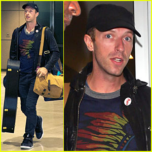 Chris Martin Gets Ready to Rock Japan with Coldplay!