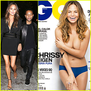 Chrissy Teigen Jokes About Having No Nipples For 'GQ Mexico' Topless Cover!