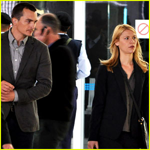 Claire Danes & Rupert Friend Film 'Homeland' Season 4 in Cape Town!