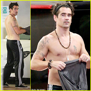 Colin Farrell Goes Shirtless After West Hollywood Lunch!