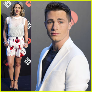 Colton Haynes & Emily Bett Rickards Buddy Up for 'Arrow' Promo in Madrid!