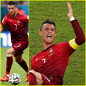 Injured Cristiano Ronaldo Takes the Field for Portugal vs. USA World Cup Game - See All the Pics!
