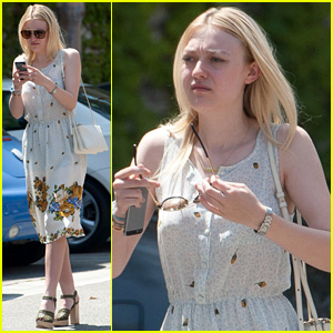 Dakota Fanning Hits Hollywood After PDA-Filled Week with Jamie Strachan in NYC