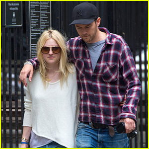 Dakota Fanning & Jamie Strachan are Connected at the Hip!