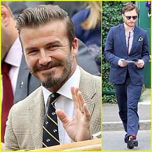 David Beckham & Ed Westwick Look Like Dapper Gentlemen at Wimbledon!