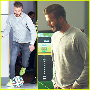 David Beckham Plays Soccer Match at Home in Adidas Commercial - Watch Now!