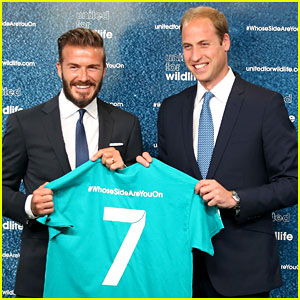 David Beckham 'Unites' with Prince William to Preserve Wildlife