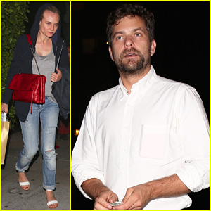 Diana Kruger Celebrates Boyfriend Joshua Jackson's 36th Birthday at Giorgio Baldi!