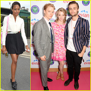 Douglas Booth & Natalie Dormer Lounge with Evian During Wimbledon Opening Day!
