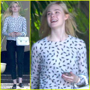 Elle Fanning Meets at Chateau Marmont for Second Day in a Row