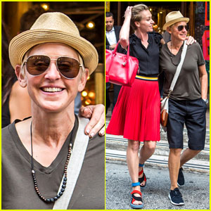Ellen DeGeneres & Portia de Rossi Look Happy in Love in NYC!
